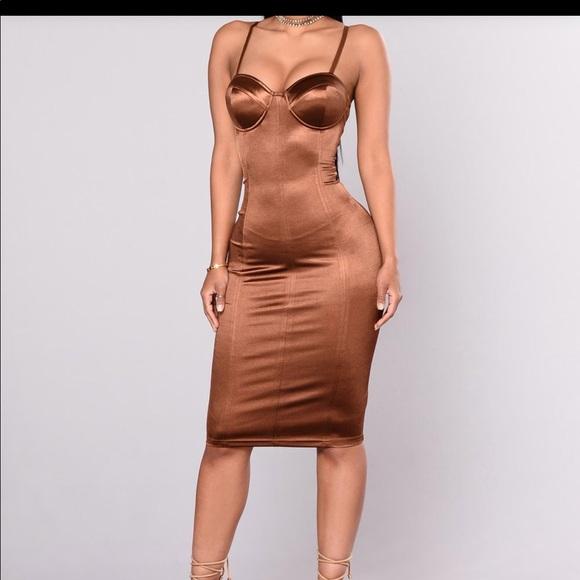 0dd694dd205 FashionNova Chocolate Midi Dress.